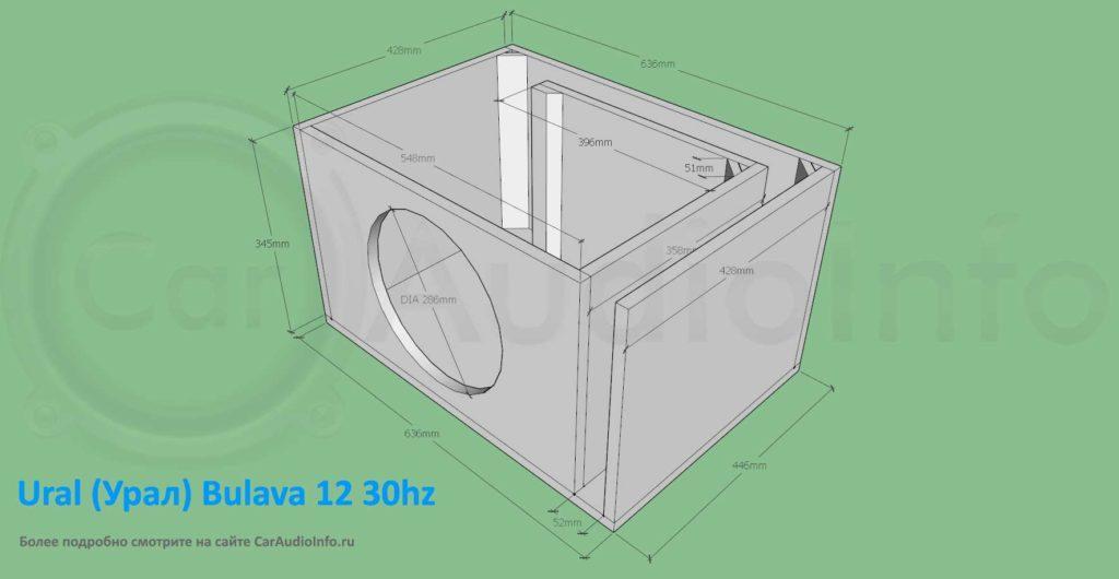 Короб с низкой настройкой для сабвуфера урал булава 12